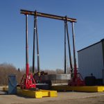 J&R Engineering LIFT-N-LOCK® Hydraulic Gantry - Mini Gantry - Load Testing