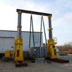 J&R Engineering LIFT-N-LOCK® Hydraulic Gantry - 1400 Series Load Test - 1
