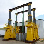 J&R Engineering LIFT-N-LOCK® Hydraulic Gantry - 1400 Series Load Test